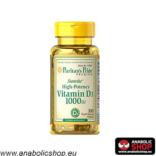 Puritans Pride D3 Vitamīns 100 kapsulas