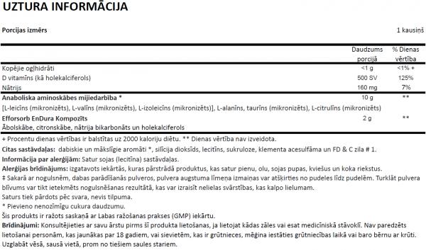 Amino X uztura informācija