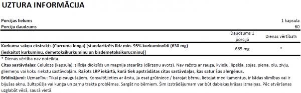 Now Foods Curcumin uztura informācija