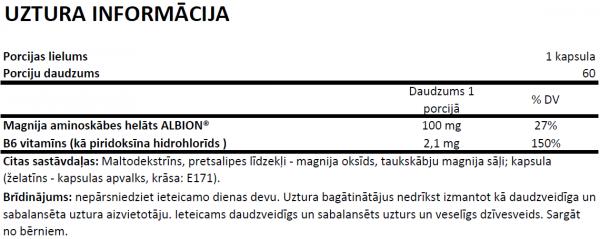 Olimp Chela - Mag B6 Forte uztura informācija
