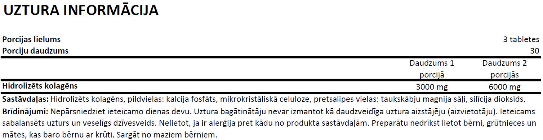 OstroVit Collagen uztura informācija