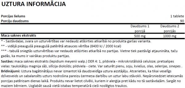 Ostrovit Maca uztura informācija