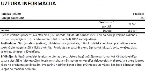 OstroVit Selenium uztura informācija
