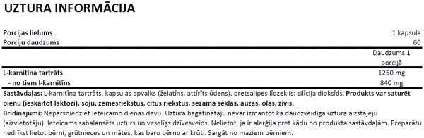 OstroVit Supreme Capsules L-Carnitine uztura informācija