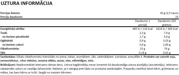 OstroVit Whey Protein Hydrolysate Instant uztura informācija