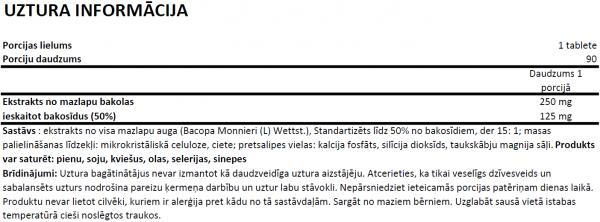 Ostrovit Bacopa Monnieri uztura informācija