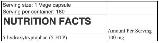 OstroVit 5-HTP VEGE uztura informācija