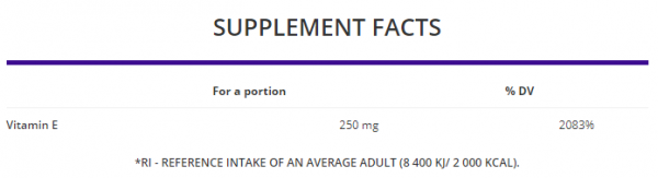 OstroVit Vitamin E uztura informācija