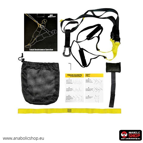 Suspension Trainer Straps Set Belts Siksnu Komplekts