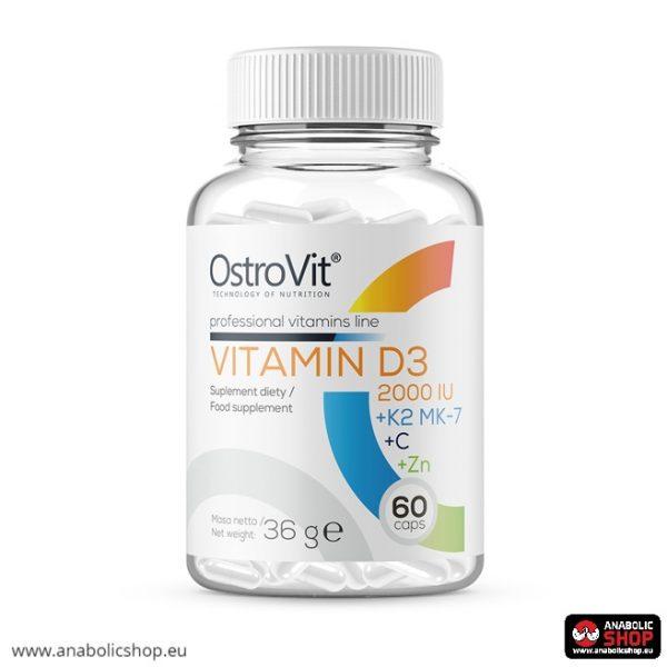 OstroVit Vitamin D3 2000 IU + K2 MK-7 + VC + Zinc