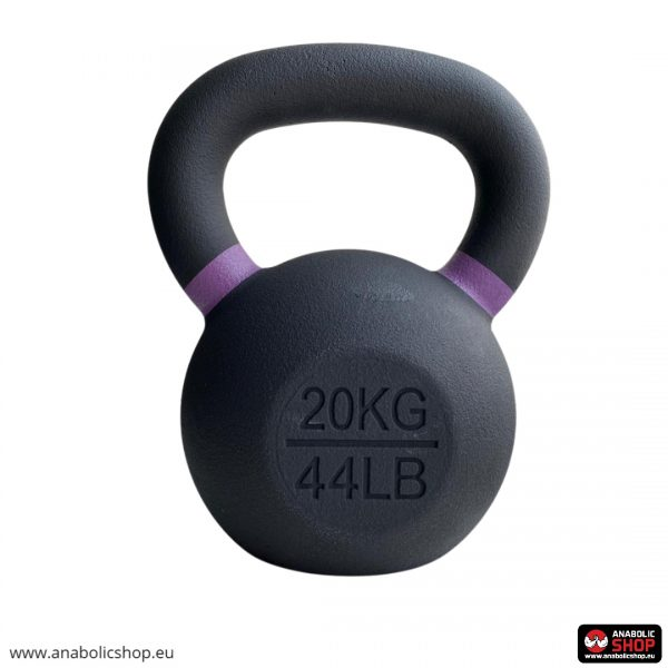Gravity Black Cast Kettlebell with color ring on the handle Svaru bumba 20 kg