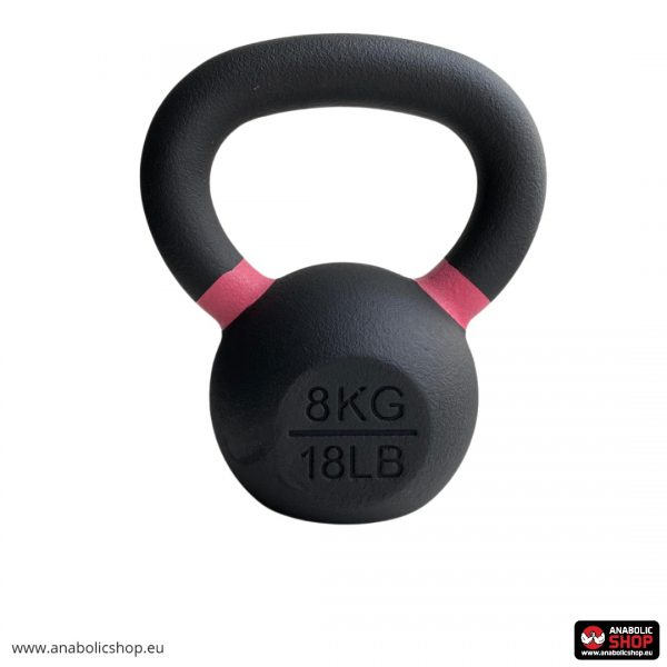 Gravity Black Cast Kettlebell with color ring on the handle Svaru bumba 8 kg
