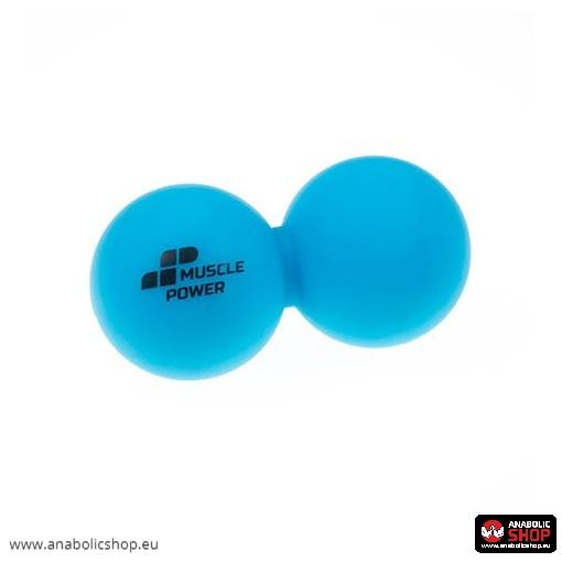 Muscle Power Double Lacrosse Balls Blue Dubultā lakrosa bumba