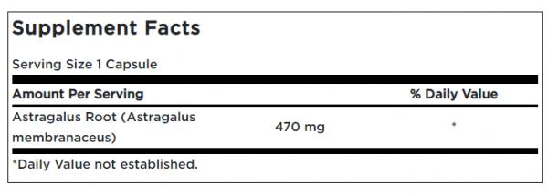 Swanson Astragalus Root 470mg uztura informācija